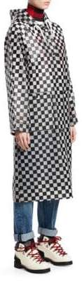 Proenza Schouler PSWL Checkerboard Anorak Raincoat