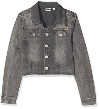 Name It Girl's Nkftaclika DNM 5155 Jacket (Medium Grey Denim)