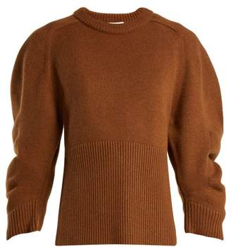 Chloé Iconic Puff Sleeve Cashmere Sweater - Womens - Brown