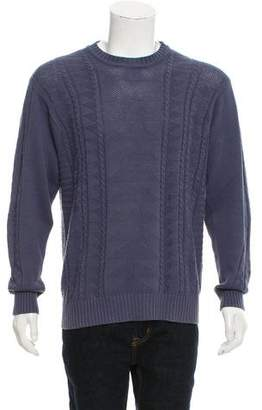 Ovadia & Sons Crew Neck Cable Knit Sweater