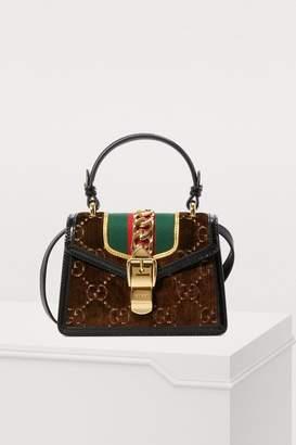Gucci Sylvie GG velvet mini hangbag