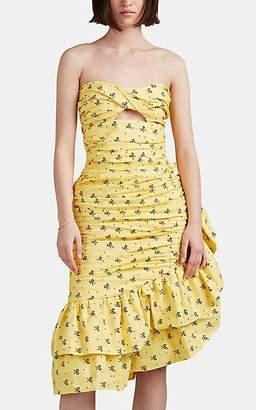 VIVETTA Women's Pontassieve Bow-Pattern Cotton Dress - Yellow