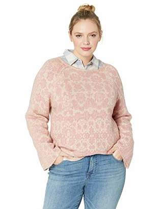 Lucky Brand Women's Plus Size Damask Pullover Sweater