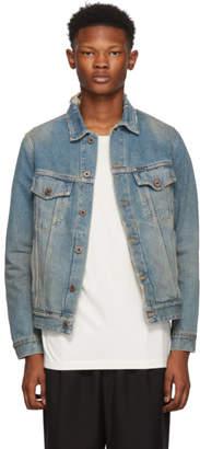 Off-White Blue Denim Gradient Jacket