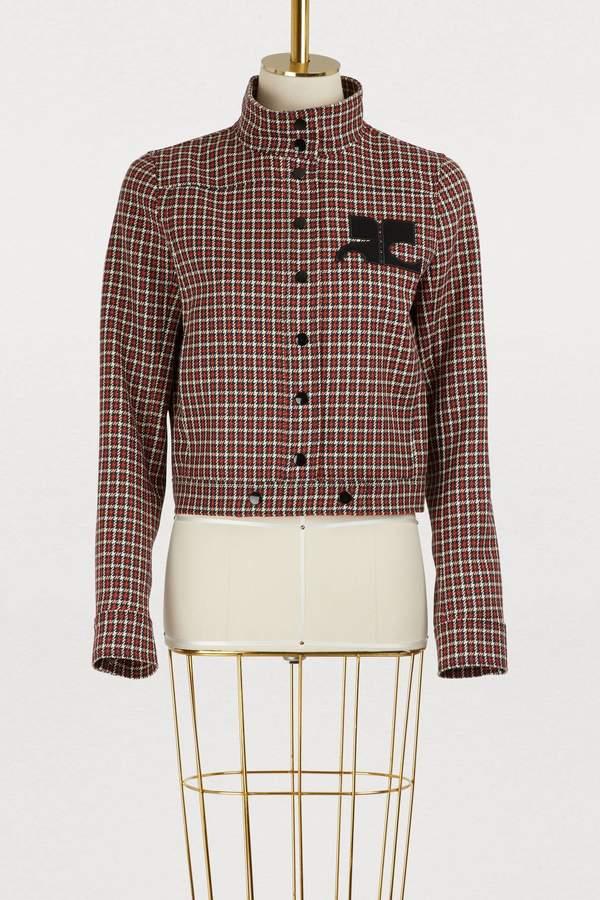 Wool short jacket