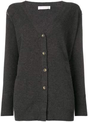 Fabiana Filippi embellished shoulder longline cardigan