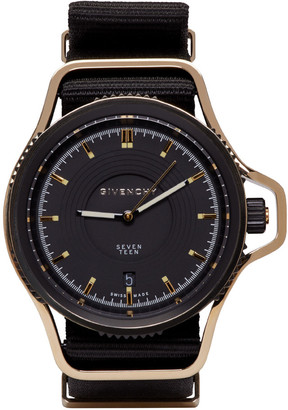 Givenchy Black & Gold Seventeen Watch $1,390 thestylecure.com