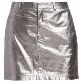 R 13 Metallic Mini Skirt
