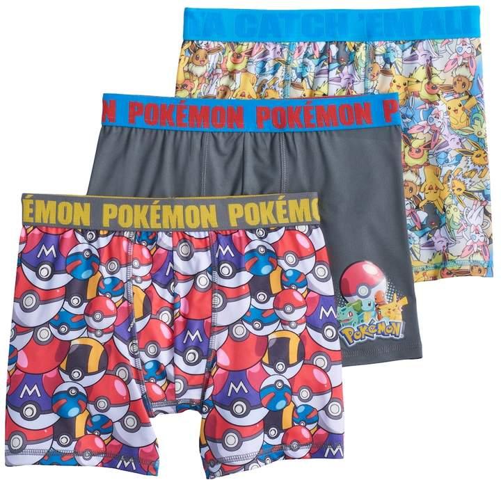 Boys 6-10 Pokemon 3-Pack Boxer Briefs