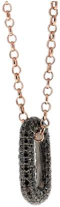 Black Diamond Selim Mouzannar Icy Link Necklace - Rose Gold