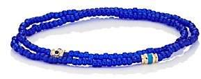 Luis Morais Men's Beaded Double-Wrap Bracelet - Blue