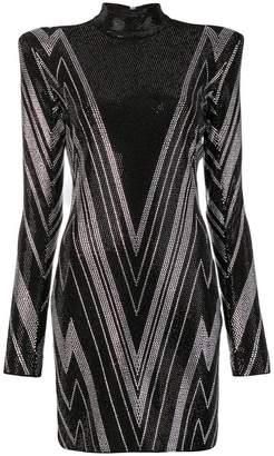 Balmain embellished long-sleeve dress