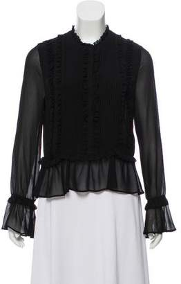 Rebecca Minkoff Ruffle-Accented Long Sleeve Top