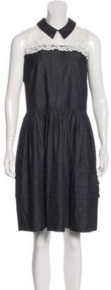 Draper James Denim Knee-Length Dress