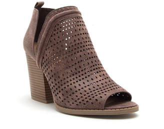 Qupid Womens Barnes 226a Booties Stacked Heel Pull-on