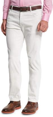 Kiton Washed Corduroy Pants, Light Camel/Ivory