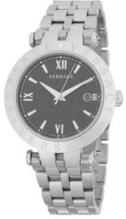 Versace V-Race Black Dial Mens Stainless Steel Watch VCL100017