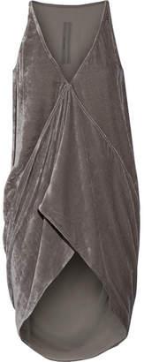 Rick Owens - Asymmetric Velvet Top - Gray $810 thestylecure.com
