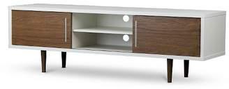 "Baxton Studio Gemini Wood Contemporary TV Stand Walnut/White 66"""