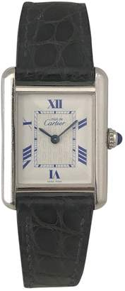 Cartier Tank Must silver watch