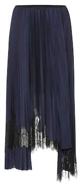 Helmut Lang Lace-trimmed skirt