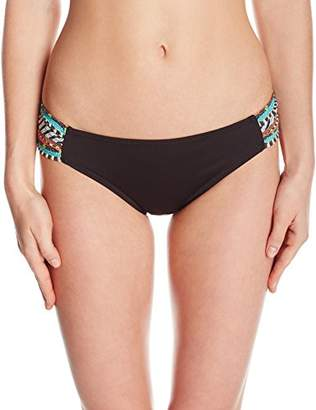 Nanette Lepore Women's Side Shirred Hipster Bikini Swimsuit Bottom
