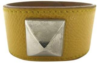 Hermes Leather Medor Stud Bracelet