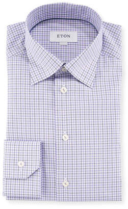 Eton Men's Plaid Cotton Dress Shirt