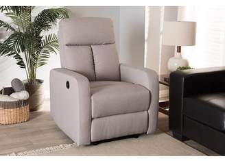 Baxton Studio Garland Modern And Contemporary Light Brown Fabric Power Recliner Armchair