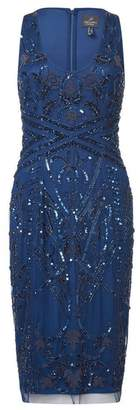 Adrianna Papell Short Beaded Dress