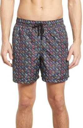 Jared Lang Trim Fit Swim Shorts