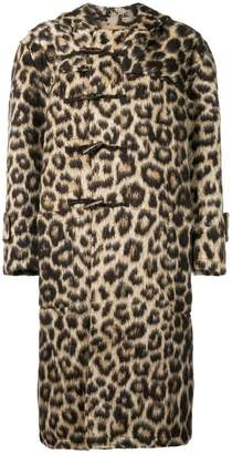 R 13 leopard hooded jacket
