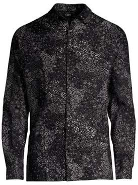 The Kooples Printed Button-Down Cotton Shirt