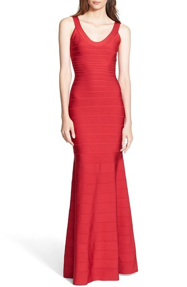 Herve Leger Women's Mermaid Bandage Gown