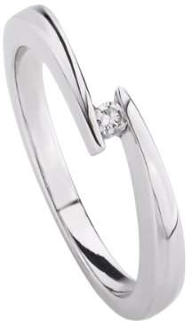 Celesta 360271431-056 Women's Ring - 925/1000 Sterling Silver with Diamond - 2.95 g silver