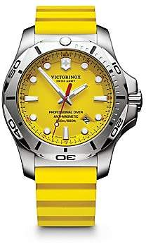 Victorinox Men's INOX Professional Diver Stainless Steel and Rubber Strap Watch