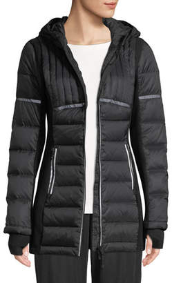 Blanc Noir Reflective Inset Featherweight Parka Puffer Jacket