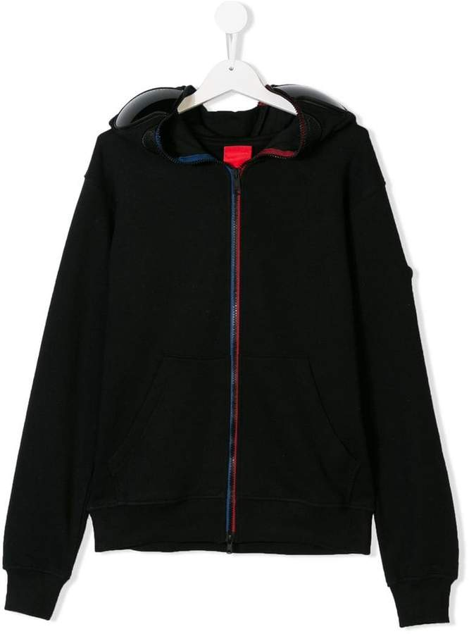 Ai Riders On The Storm Kids TEEN structured zipped hoodie