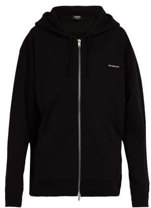 Calvin Klein Established Oversized Cotton Hooded Sweatshirt - Mens - Black