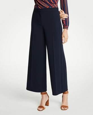 Ann Taylor Petite Knit Wide Leg Crop Pants