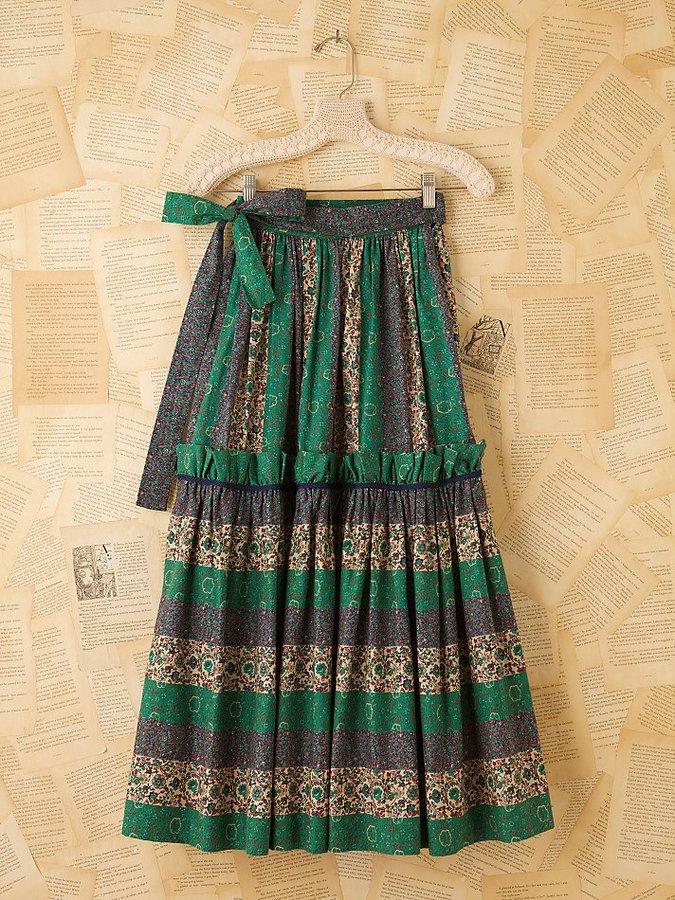 Yves Saint Laurent Vintage Peasant Skirt
