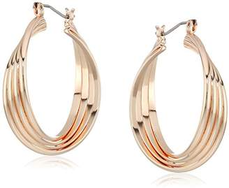 Kenneth Cole New York Kenneth Cole New Women's Trinity Rings Medium Twisted Hoop Earrings