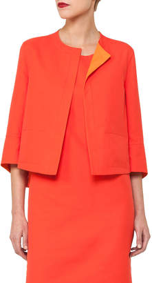 Akris Reversible Bicolor Bracelet-Sleeve Jacket
