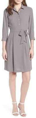 Anne Klein Dot Print Shirtdress