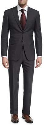 Brioni Herringbone Striped Wool Two-Piece Suit