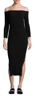 Rag & Bone Kari Off-The-Shoulder Midi Dress