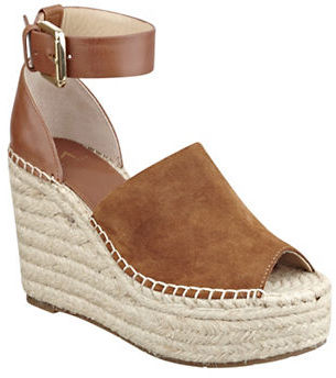 Marc Fisher Ltd Adalyn Peep-Toe Espadrilles $160 thestylecure.com