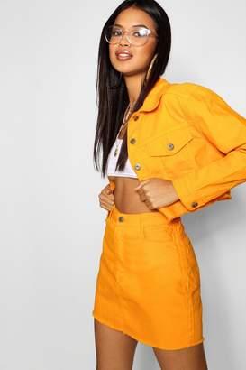 boohoo Tangerine Denim Skirt