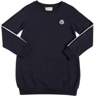 Moncler Cotton Sweat Dress With Logo