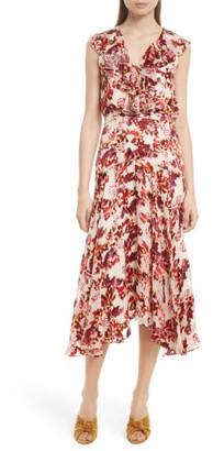Women's Saloni Rita Ruffle Dress $595 thestylecure.com